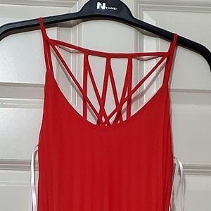 B Darlin pleated maxi dress